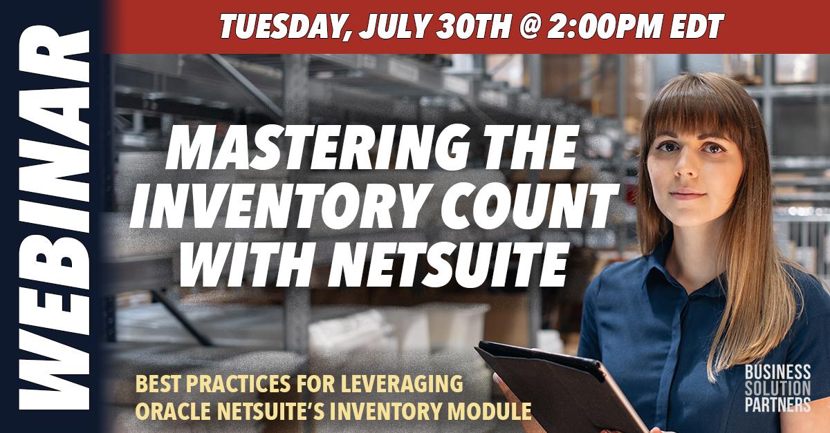 BSP_Webinar_NetSuite_Inventory_7_30_19